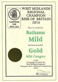 West Midlands Regional Champion Beer of Britain